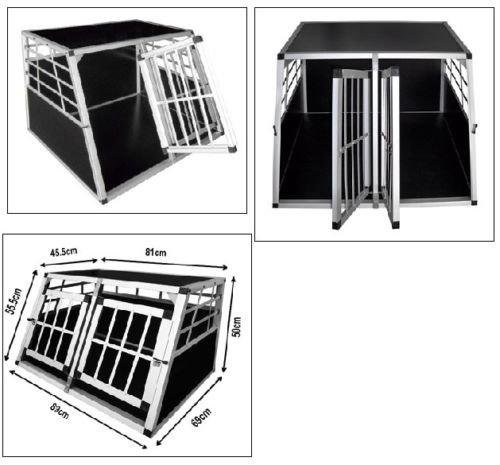 Hundetransportbox faltbar groß Alu Auto XL PREMIUM Ziigo