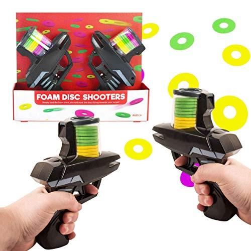 Foam Disc Shooters Flugziel- und Zielspielset mit 2 Gun & Color Discs