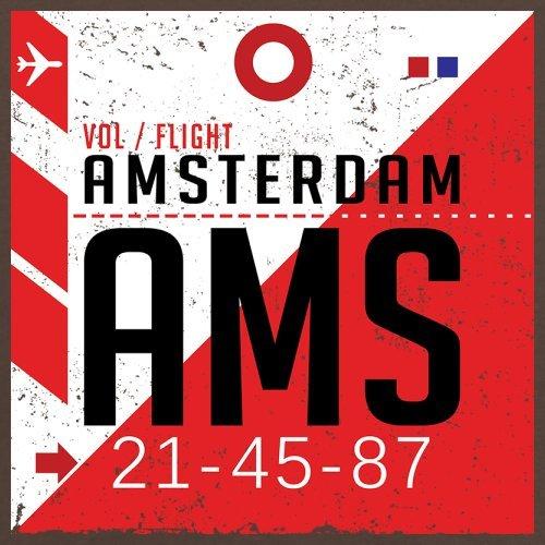 Amsterdam Flughafen - Herren T-Shirt - 13 Farben Schokobraun