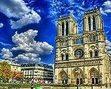 OKOUNOKO Digitales Malen Nach Zahlen ,Für Erwachsene Anfänger ,Notre Dame De Paris Kathedrale...