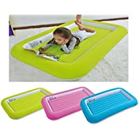 E-Bargains Kid's Children's Inflatable Safety Flocked Kiddy Airbed Toddlers Camping Air Beds Soft Comfortable Fun Colourful Guest Sleepover