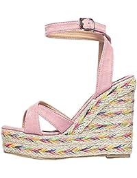 Calaier Mujer Cafarm Tacón De Aguja 14CM Sintético Hebilla Sandalias de vestir Zapatos