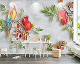 Sumotoa 3D Wandmalerei Tapete Pastoralen Wind Granatapfel Papagei Wandaufkleber Für Wohnzimmer Schlafzimmer Decke 300cmX230cm