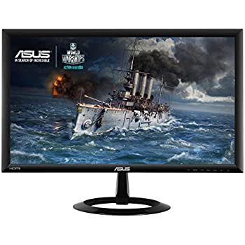 Asus VX228H Gaming Monitor, 21.5'' FHD da 1920x1080, 1 ms, HDMI, D-Sub, Low Blue Light, Flicker Free