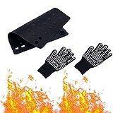 Guanti Resistente al Calore,guanti anti-calore,guanti resistenti silicone-per i strumenti per lo styling Resistente Temperatura Alta con Stuoia a prova di calore