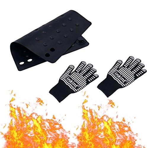 Guantes Resistente al calor & # xFF0C; Guantes anticalor & # xFF0C; Guantes resistentes silicone-per I Instrumentos para lo Styling resistente Temperatura alta con estera a prueba de calor