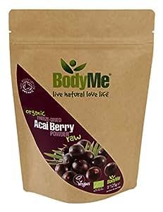 BodyMe Poudre de Baie d'Acai Biologique 20:1 | 125 g (1 x 125 g) | Soil Association Certifie Biologique