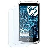 Bruni Schutzfolie für HTC Desire 526G+ Folie - 2 x glasklare Displayschutzfolie