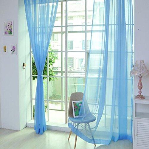 DOLDOA 1 PCS reine Farbe Tulle Tür Fenster Vorhang Drapieren Platte schiere Schal Valances (Größe M (L x B): 270cm x 100cm., K)