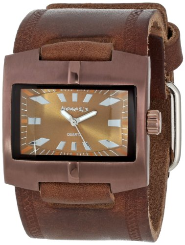 nemesis-mens-bbd060b-racing-sport-collection-braided-copper-tone-brown-on-brown-watch