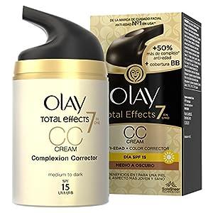 51b8W2dLKlL. SS300  - Olay-Total-Effects-7-en-1-CC-Cream-Anti-Edad-Correctora-de-Tono-Medio-A-Oscuro-SPF-15-50-ml