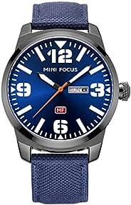ساعة ميني فوكس للرجال كوارتز انالوج بعقارب وسوار جلد - MF0032G.02