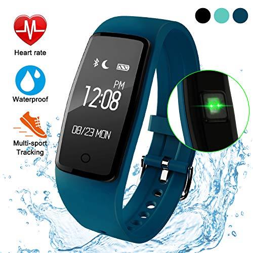 ITSHINY Pulsera Actividad Hombre Mujer, Pulsera Actividad Inteligente Reloj Pulsómetro Impermeable IP68 Podómetro Pulsera Deportiva Reloj para Xiaomi Samsung Huawei Android iPhone iOS Teléfono