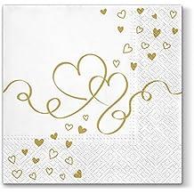 50Stk Serviettenringe Herz für Papierservietten Tischdeko Hochzeit s