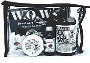 Famous Beard Oil Hydrating Beard Care WOW Kit Highlander - Includes Beard Balm, Beard Oil and Beard and Body W