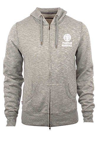 Franklin-Marshall-Fleece-Zip-Hood-Sport-Grey-Mel