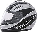 ROADSTAR Integral-Helm Revolution , Dekor Wave silber Größe S