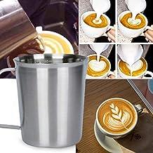 TAOtTAO Medición 304 Acero Inoxidable Espumador de Leche Jarra para Latte Café Arte ...