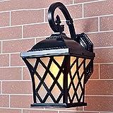 Im Freienschwarzes Fishermans Retro Art-Wand-Licht-Lampe Wasserdichtes Licht, Backen Ende, Rost Schutz, stark und haltbar, Wiederherstellung der alten Weisen 240 * 360 (Millimeter)