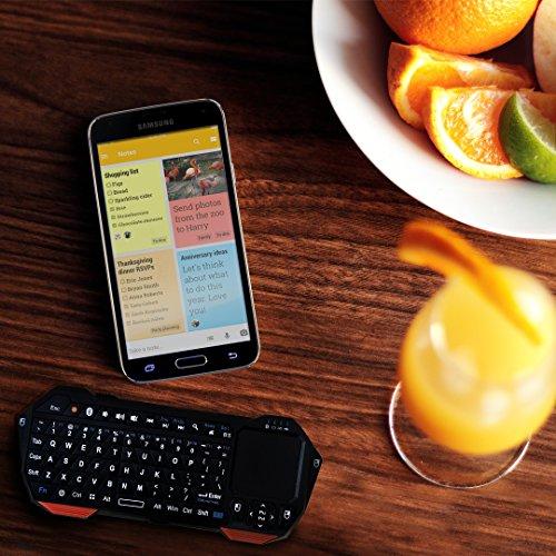 Mini-Bluetooth Funktastatur, COOPER MAGIC WAND universelle, tragbare Funktastatur mit Hintergrundbeleuchtung und Touchpad - 4