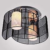 ALFRED® Deckenleuchte modernes Design Schlafzimmer 2 Leuchten schwarz, Mini Style Kronleuchter Moderne Leuchte Decke für Flur, Esszimmer, Wohnzimmer