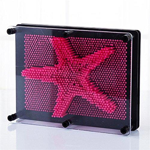s Klon Fingerabdruck Nadel Malerei Gag Weihnachten Kinder Geschenk Dreidimensional Modell Spielzeug (heiß rosa) (Gag-geschenke Für Kinder)