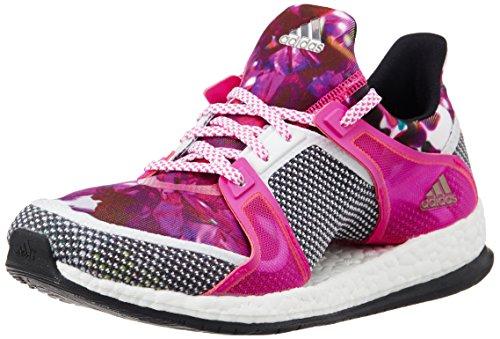adidas Damen Pure Boost X TR W Laufschuhe, Weiß / Schwarz / Pink (Ftwbla / Negbas / Rosimp), 38 EU