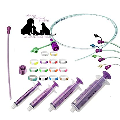 ABNOBA PET STORE Sterile Tube Feeding Kit 6 French (2.00mm) Medium & Large Breed Puppies Feeding Tube (Nutrisafe) 1
