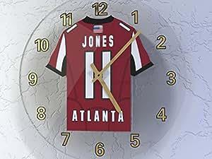 MyShirt123 ATLANTA FALCONS NFL JERSEY WALL CLOCK - NFC SOUTH - ANY NAME & NUMBER, YOU CHOOSE ACRYLIC SHIRT DESIGN