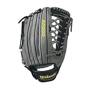 WILSON A2000KP92Heimspiele Baseball Handschuh, WTA20RB17KP92, grau/schwarz,...