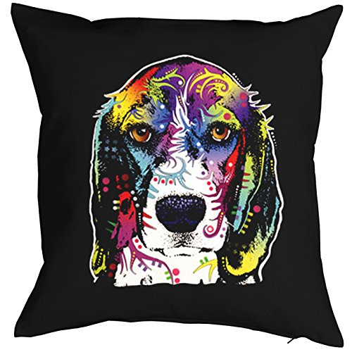 TITAGU Neon-Kissenbezug(ohne Füllung) Sofa-Kissenbezug mit Hunde-Motiv: Beagle - für Hundeliebhaber