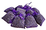 Spirit of Avalon 10 LAVENDELSÄCKCHEN 80 g - Lavendel Pur Lavendelblüten, intensiv duftend, frisch abgefüllt - Kräuter/Motte / natürlicher Mottenschutz/Gewürz / Schlaf/Frankreich / Provence