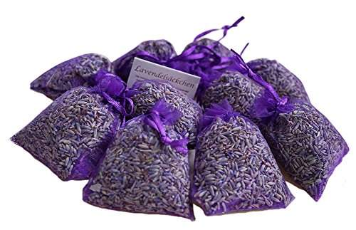 Bio-kräuter-ritual (Spirit of Avalon 10 LAVENDELSÄCKCHEN 80 g - Premium Lavendel Pur Lavendelblüten, intensiv duftend, frisch abgefüllt - Kräuter/Motte/natürlicher Mottenschutz/Gewürz/Schlaf/Frankreich/Provence)