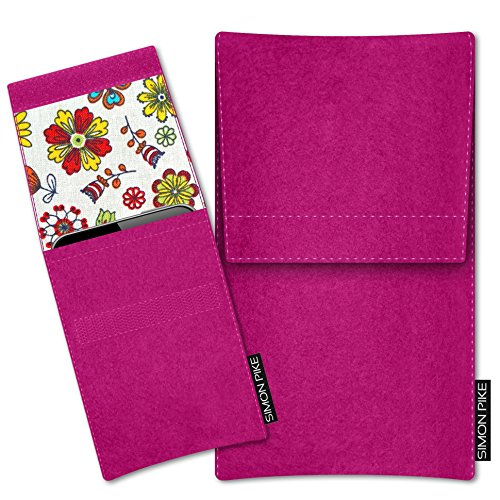 SIMON PIKE Microsoft Lumia 640 Filztasche Case Hülle Sidney in pink 17, passgenau maßgefertigte Filz Schutzhülle aus echtem Natur Wollfilz, dünne Tasche im schlanken Slim Fit Design für das Lumia 640