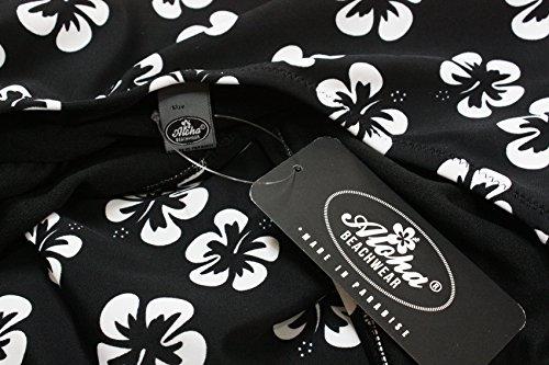 Aloha-Beachwear Damen Bikini A1059 Schwarz/Weiss Gr. 40 -