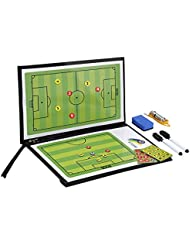 GHB Taktiktafel Taktikboard Fußball 53 x 25 cm inkl. 24 Stück Magnete und 2 Stifte,Radiergummi,Pfeife