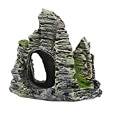 #8: Segolike Artificial Mountain with Fish Cave Fish Tank Aquarium Vivarium Background Decorative Ornaments