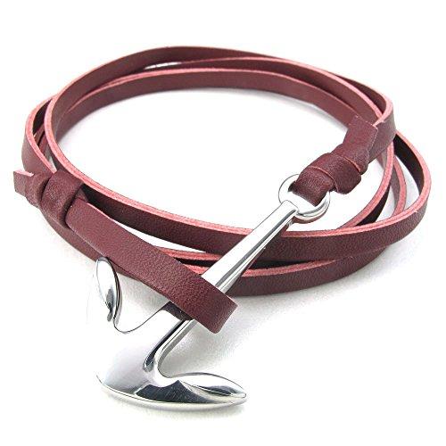 konov-bijoux-bracelet-femme-anchor-ancre-cuir-acier-inoxydable-fantaisie-chaine-de-main-couleur-roug