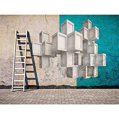 WEMUR Masar Martha - 1M2 deutsche Tapete importierte Tapete Hintergrund Wandmalerei blau industriellen Stil kreativ, 300x210 cm (118,1 by 82,7 in) - Importierte Bettwäsche
