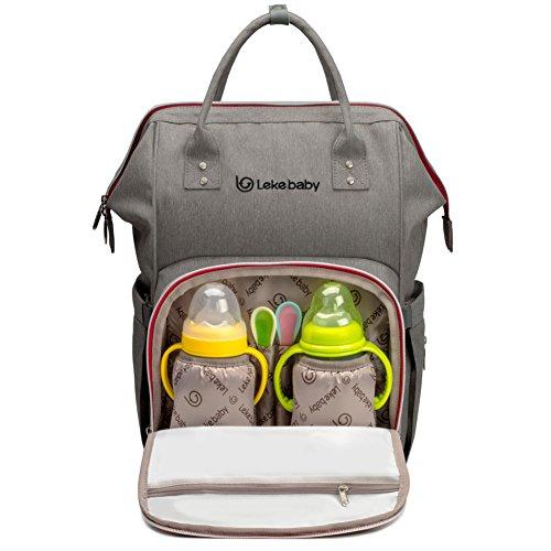 Preisvergleich Produktbild Lekebaby Wickeln Rucksack mit Wickelunterlage für Reisen und den täglichen Gebrauch, Grau