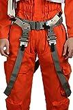 Wellgift Halloween Dameron Pilot Gürtel mit Riemen Poe Cosplay Kostüm Herren Bund Fancy Dress Costume Merchandise Outfit Zubehör