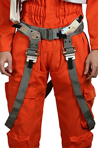 Wellgift Halloween Dameron Pilot Gürtel mit Riemen Poe Cosplay Kostüm Herren Bund Fancy Dress Costume Merchandise Outfit ()