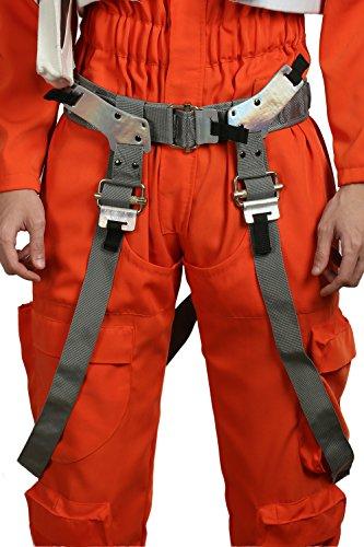 Leder Halfter Kostüm - Xcoser Poe Gürtel mit Gewehr Halfter PU-Leder Replik SW Film Cosplay Kostüm Requisiten für Herren Halloween Kleidung Verrücktes Kleid (Version.2)