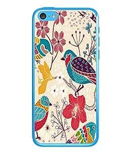 PrintVisa Designer Back Case Cover for Apple iPhone 5c (Decoration Card Illustration Wallpaper Paint Sketch Concept)