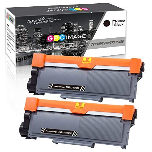 2320 Kompatible Toner als Ersatz für TN2310 TN-2310 für Brother MFC-L2700DW DCP-L2520DW HL-L2340DW HL-L2300D MFC-L2720DW DCP-L2560DW DCP-L2500D HL-L2365DW L2360DN (Schwarz, 2-Pack) ()