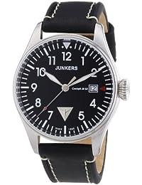 Junkers Herren-Armbanduhr XL Analog Quarz Leder 6144-2