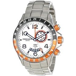 Torgoen Swiss Herren-Armbanduhr Analog Quarz Edelstahl T20201