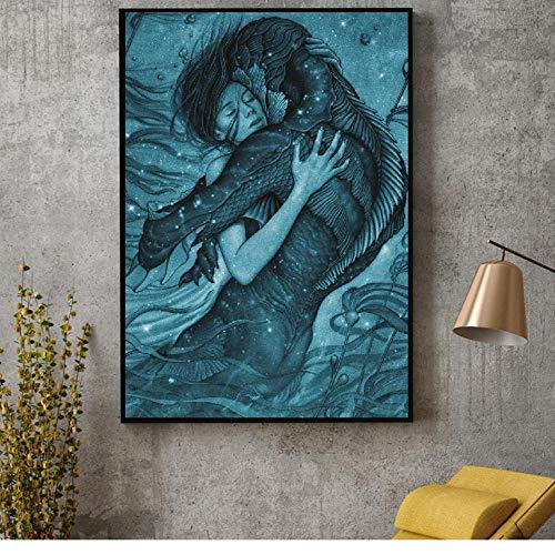 HXQQ Die Form von Wasser Film Kunst leinwand Stoff Poster drucken für wandbilder für die Dekoration der room50x70cm -