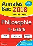 annales bac 2018 philosophie term l es s