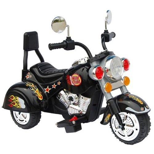 """Kinder Elektromotorrad """"Wild Child Deluxe-Edition"""" mit MP3 Musik Anschluss, realistischen Soundeffekten, Power Akku und Motor"""